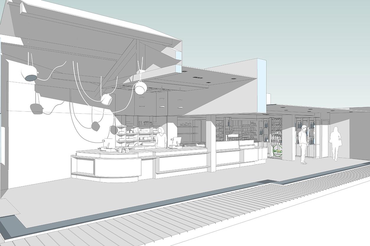 Globalis - Etude et esquisse 3d, projet décoration architecture intérieure matières ambiance